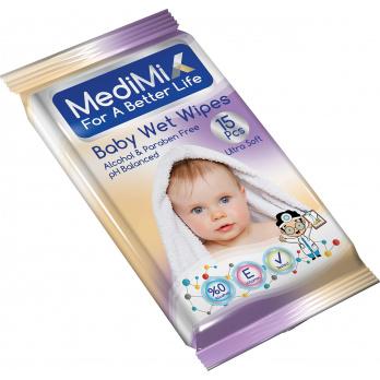 ميدي مكس مناديل مبللة للأطفال 15 قطعة
