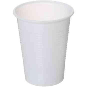 اكواب بلاستيك للاستعمال مرة واحدة أبيض حجم وسط 100 قطعة