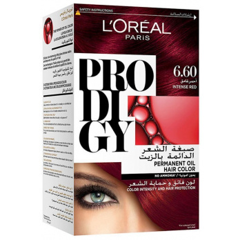 صبغة شعر لوريال بروديجي 6.60 أحمر غامق