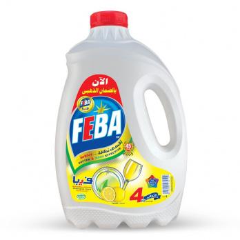 سائل تنظيف الاطباق من فيبا ليمون – 4 كجم