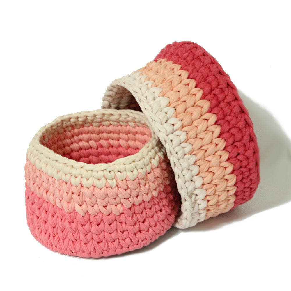 Circular Crochet Gift Box _ Large