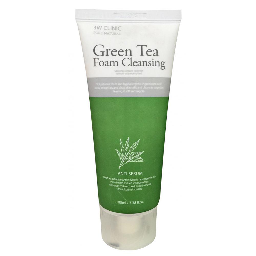 غسول منظف للوجه بخلاصة الشاي الأخضر – 100 مل من 3W CLINIC