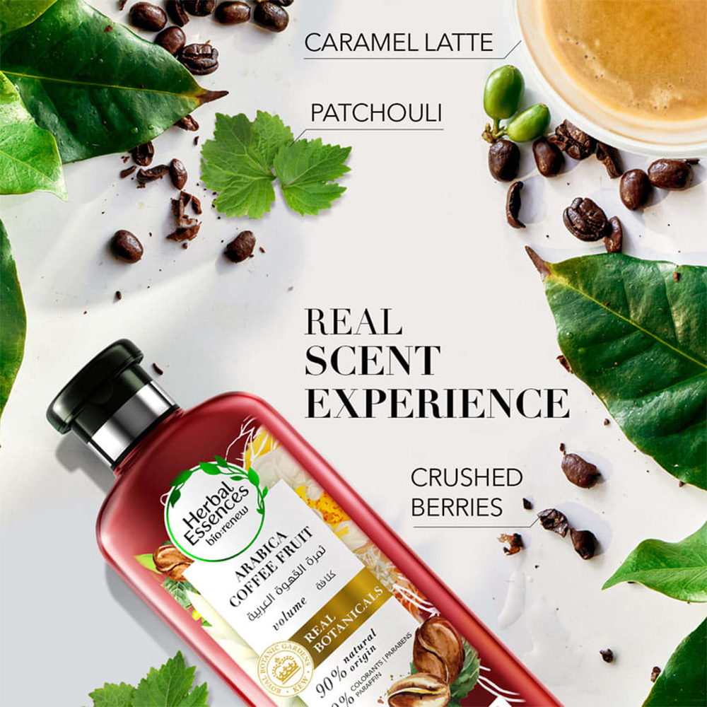 بلسم هربل إيسنسز لإعادة كثافة الشعر بخلاصة ثمرة القهوة العربية – 400 مل