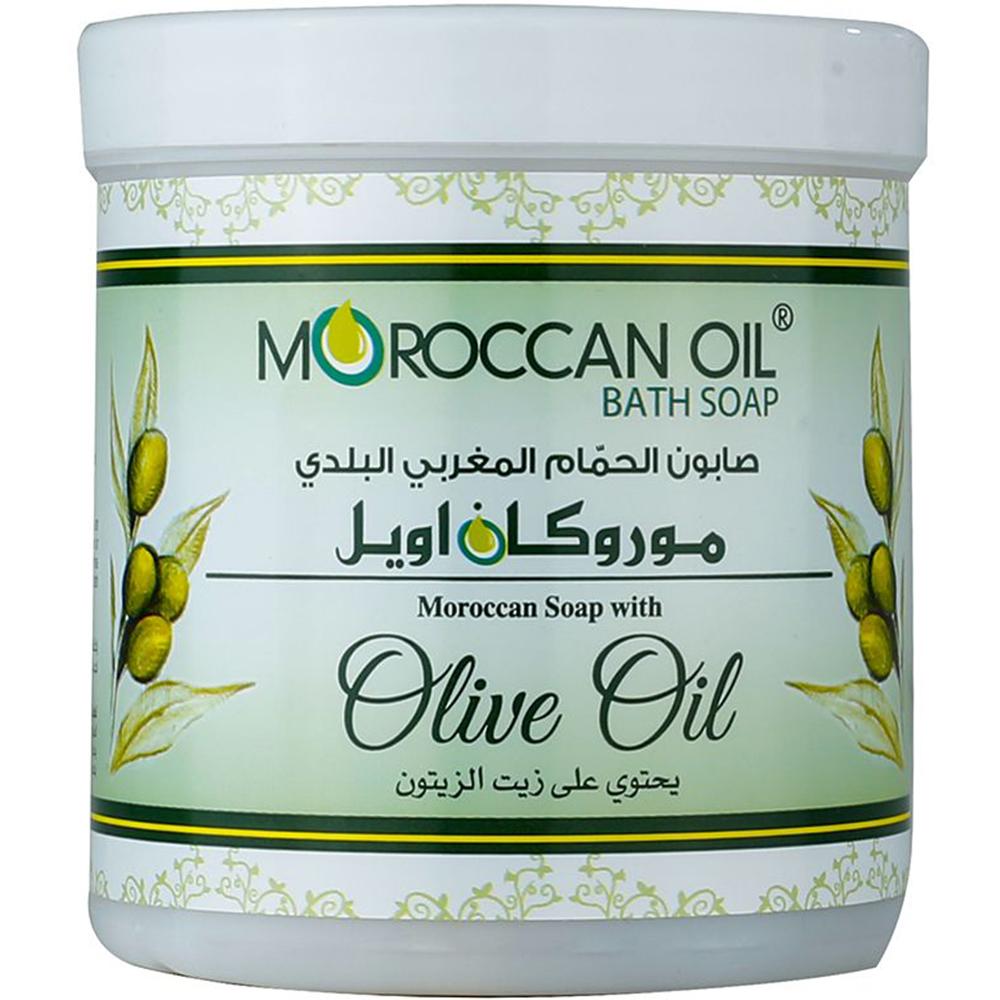 صابونة الحمام المغربي السوداء بزيت الزيتون من موروكان أويل، 250 جم