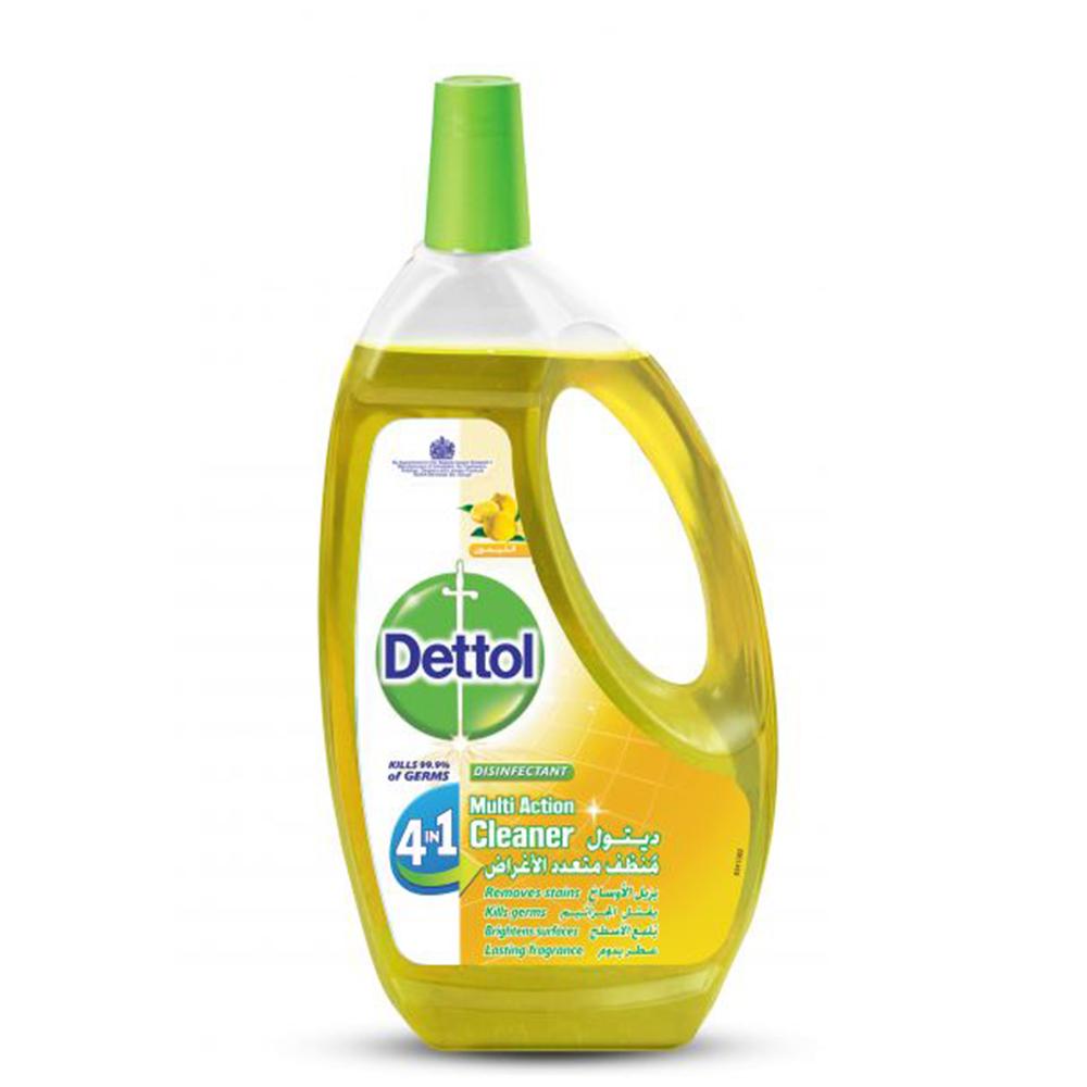منظف متعدد الاستخدام 4 في 1 برائحة الليمون من ديتول، 1.3 لتر